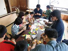 6月22日[学生の活動]天神にぎわい市にボランティア参加