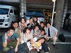 7月6日[学生の活動]かがやけ共同作業所(知的・身体障害者)第1作業所祭りにボランティア参加