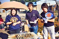 10月19日[学生の活動] つくば市の特別養護老人ホームこの花さくやで行われた『秋の味覚祭り』にボランティアとして参加しました