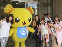 土浦市ボランティア祭りに福祉活動サークルの学生が参加しました。