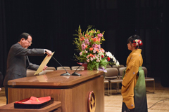 成績優秀者に対し学長表彰を行いました(平成29年度)