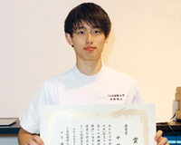 理学療法学科3年の中野さんが「理学療法の日」作文コンクールで優秀賞を受賞しました