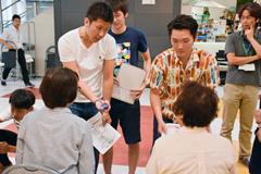 土浦市で開催されている介護予防教室に理学療法学科の学生、教員が参加しました